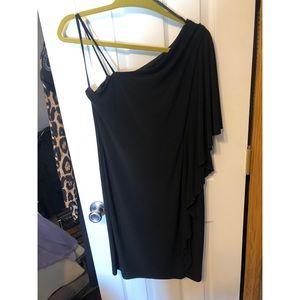 Black One Shoulder Valerie Bertinelli Dress